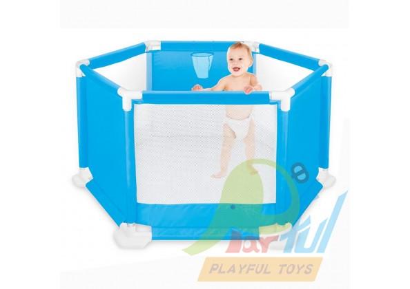 鐵管兒童安全圍欄/遊戲床