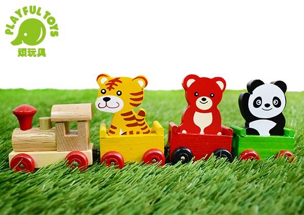 磁性動物火車-熊貓